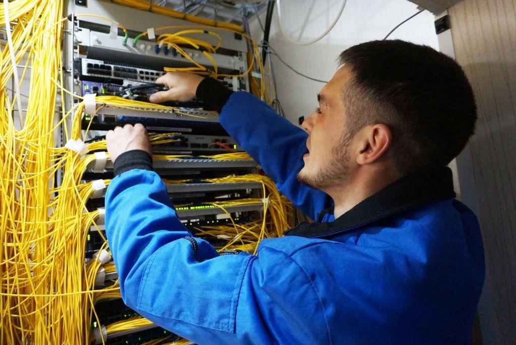 Прокладка кабеля ВОЛС 2 фото